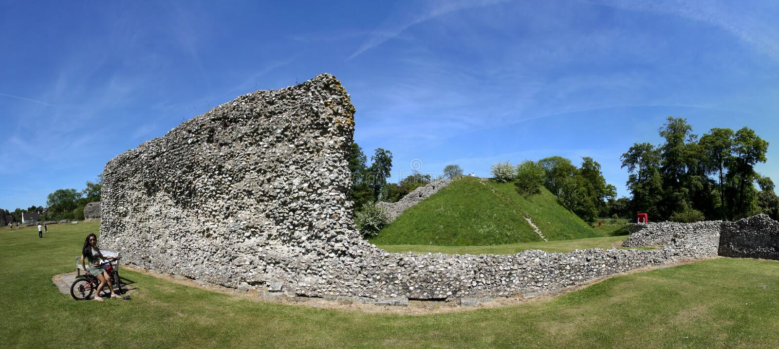 Berkhamsted castle panorama hertfordshire uk royalty free stock photo