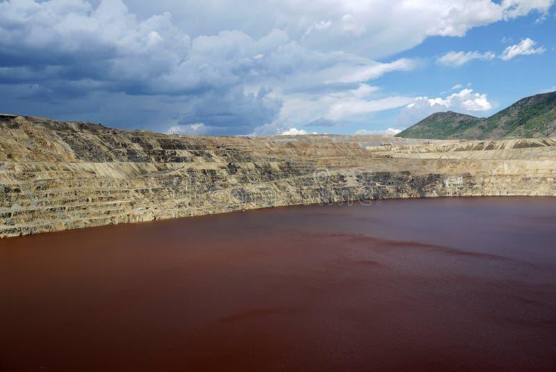 berkley铜矿露天开采矿 库存图片