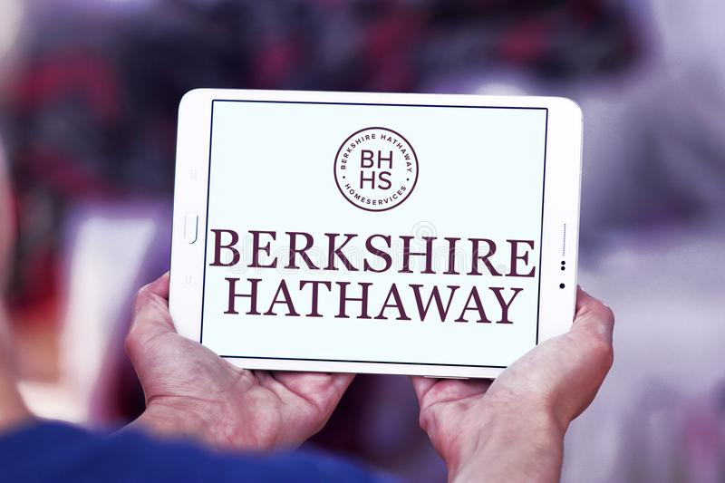 Berkshire Hathaway company logo. Logo of Berkshire Hathaway company on samsung tablet . Berkshire Hathaway Inc. is an American multinational conglomerate holding royalty free stock images