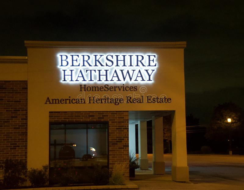 Berkshire Hathaway Home Services. Berkshire Hathaway Inc. is an American multinational conglomerate holding company headquartered in Omaha, Nebraska, United royalty free stock images