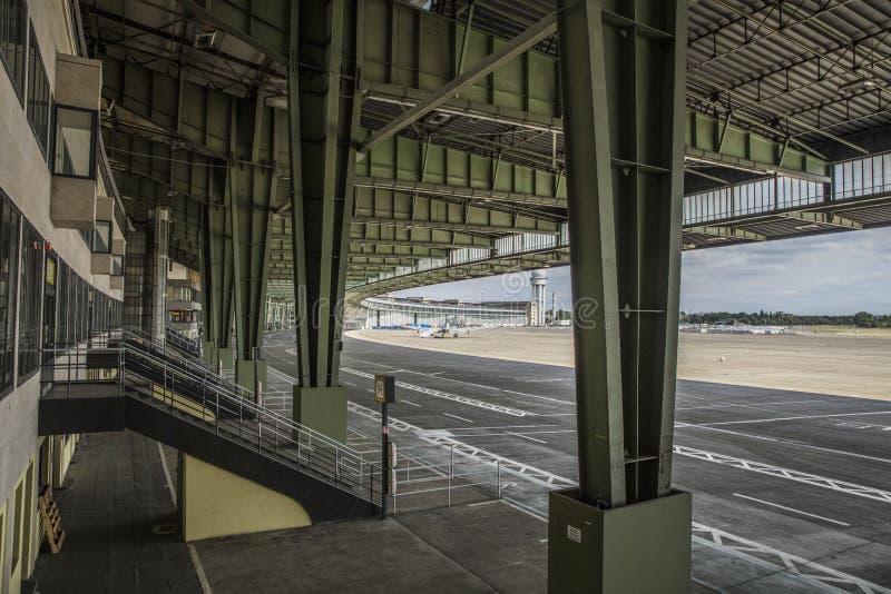 Berlín, Alemania, agosto de 2018; Berlin Tempelhof Airfield anterior imagen de archivo libre de regalías