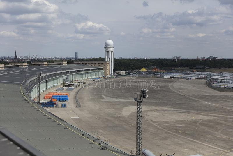 Berlín, Alemania, agosto de 2018; Berlin Tempelhof Airfield anterior fotografía de archivo