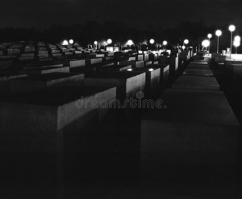 Monumento del holocausto de Berlín foto de archivo