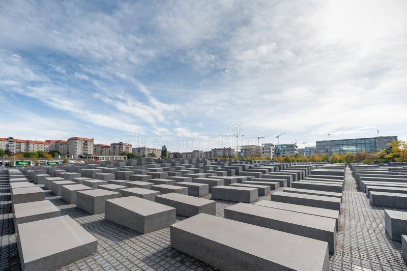 BERLÍN, ALEMANIA - 26 DE SEPTIEMBRE DE 2012: Monumento a los judíos asesinados de Europa, Berlín, Alemania foto de archivo libre de regalías