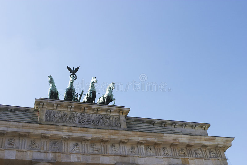 Berlín, Brandenburgertor un tiro del detalle fotografía de archivo libre de regalías