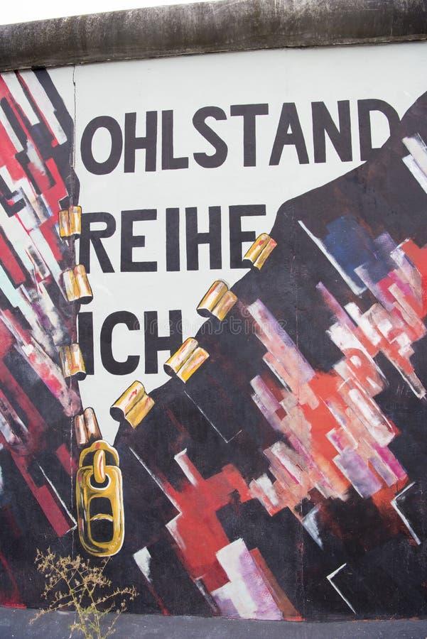Berlín, la pared, pintura, galería de la zona este fotografía de archivo libre de regalías