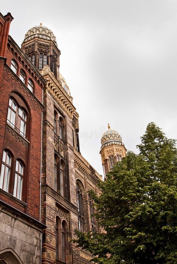 Berlín, nueva sinagoga, edificio hermoso en estilo moro fotografía de archivo libre de regalías