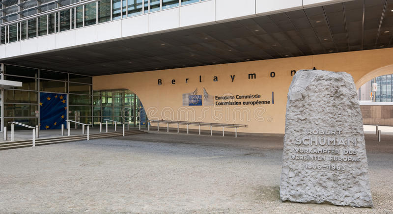 Berlaymont-Gebäude in Brüssel lizenzfreies stockfoto