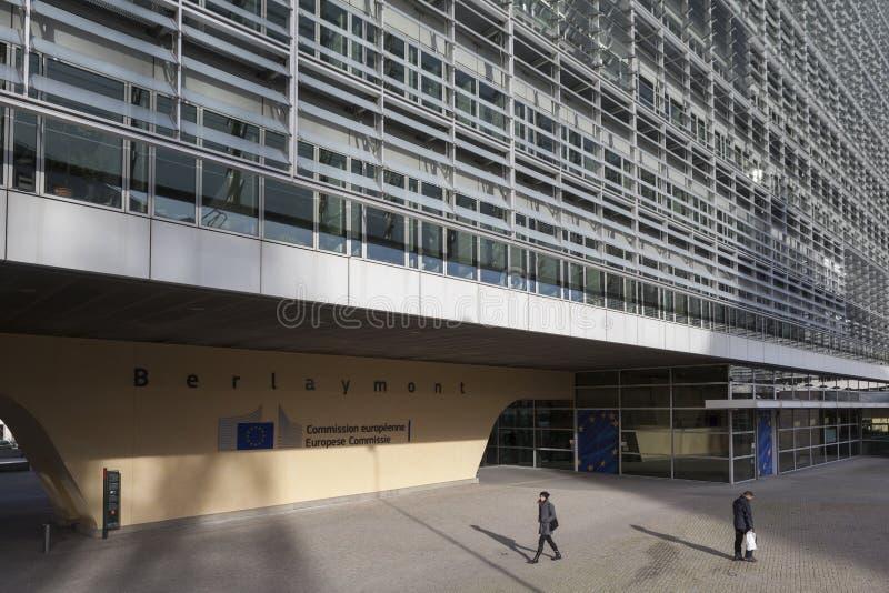 Berlaymont-Gebäude in Brüssel stockbild
