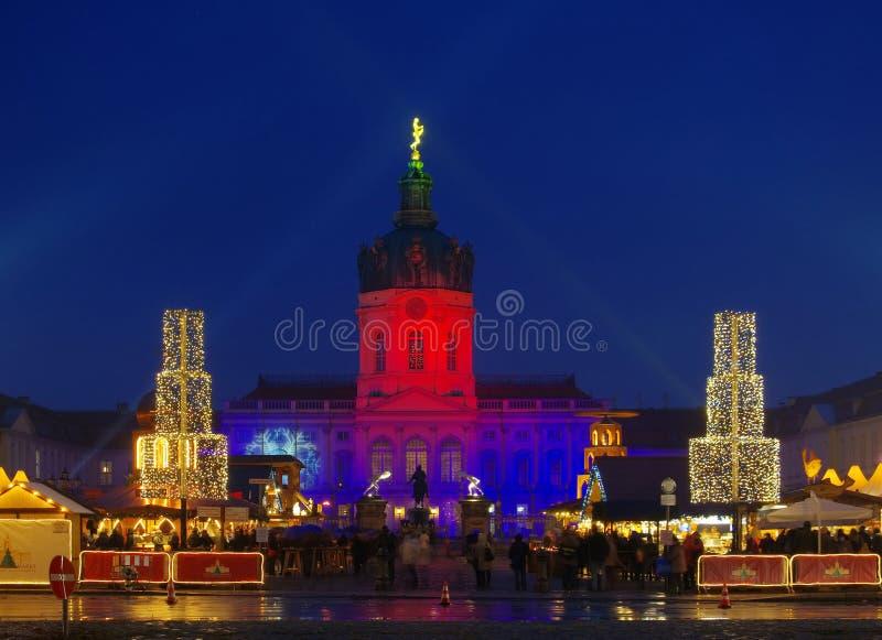 Berlińscy boże narodzenia targowy Charlottenburg zdjęcie royalty free