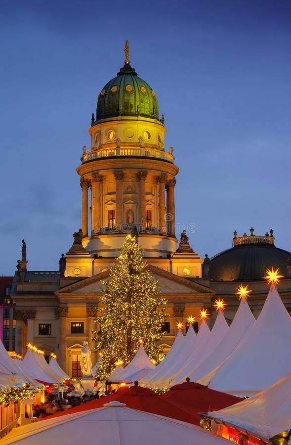 Berlińscy boże narodzenia targowy Gendarmenmarkt fotografia stock