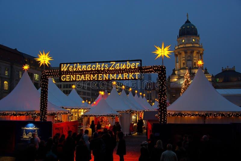 Berlińscy boże narodzenia targowy Gendarmenmarkt obrazy royalty free