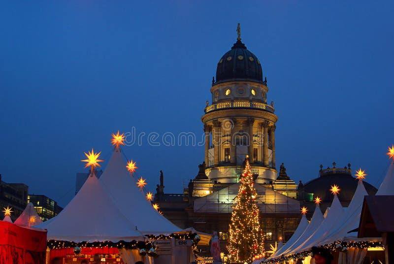 Berlińscy boże narodzenia targowy Gendarmenmarkt fotografia royalty free