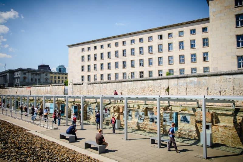 Berlińska ściana, terenoznawstwo terror, Niemcy fotografia stock