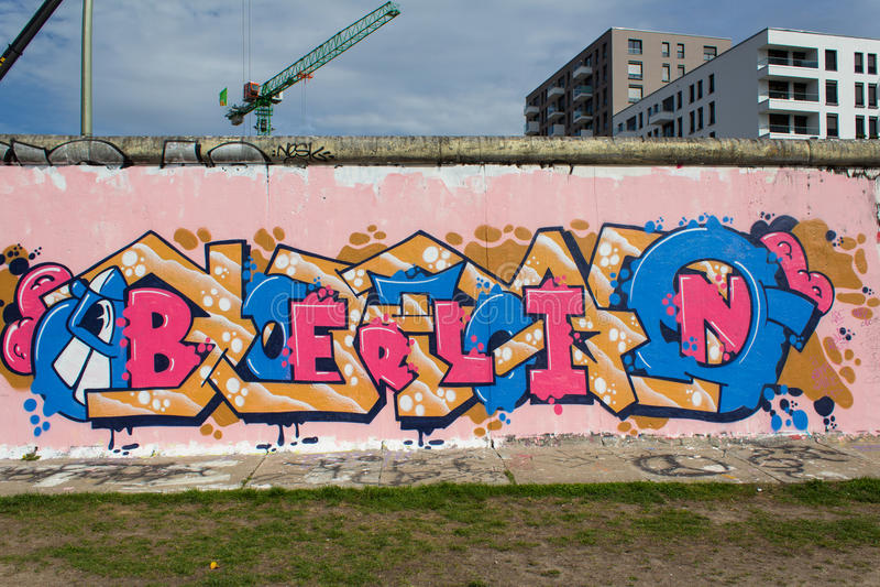 Berlińska ściana z Berlin graffiti obraz royalty free