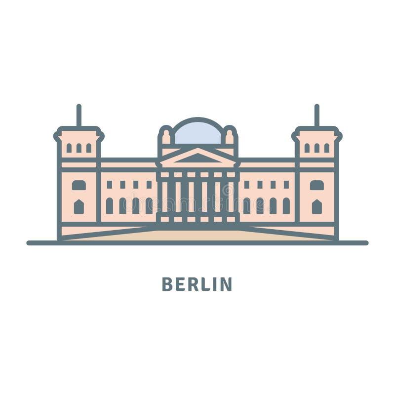 Berlińska Reichstag budynku wektoru ilustracja ilustracja wektor