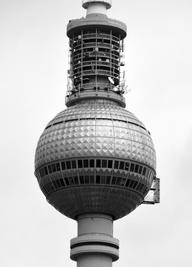Berliński Fernsehturm telewizi wierza fotografia royalty free
