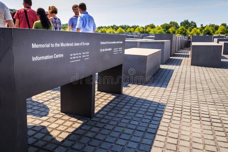 Berliński holokausta pomnik obraz stock