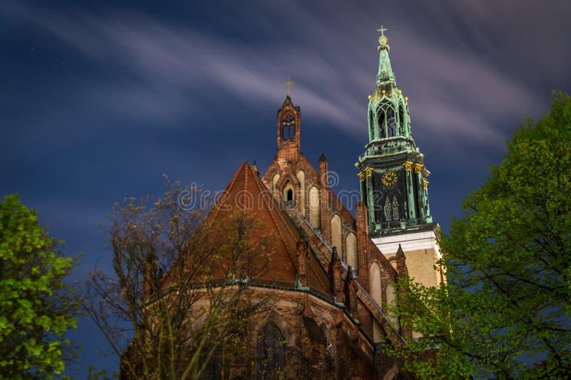 Berliński kościół i wierza obraz royalty free