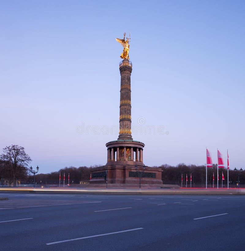 Berliński Siegessauele (zwycięstwo kolumna) obrazy stock