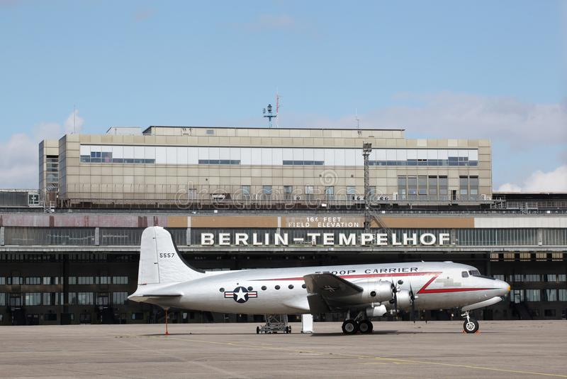 Berliński Tempelhof lotnisko zdjęcie stock