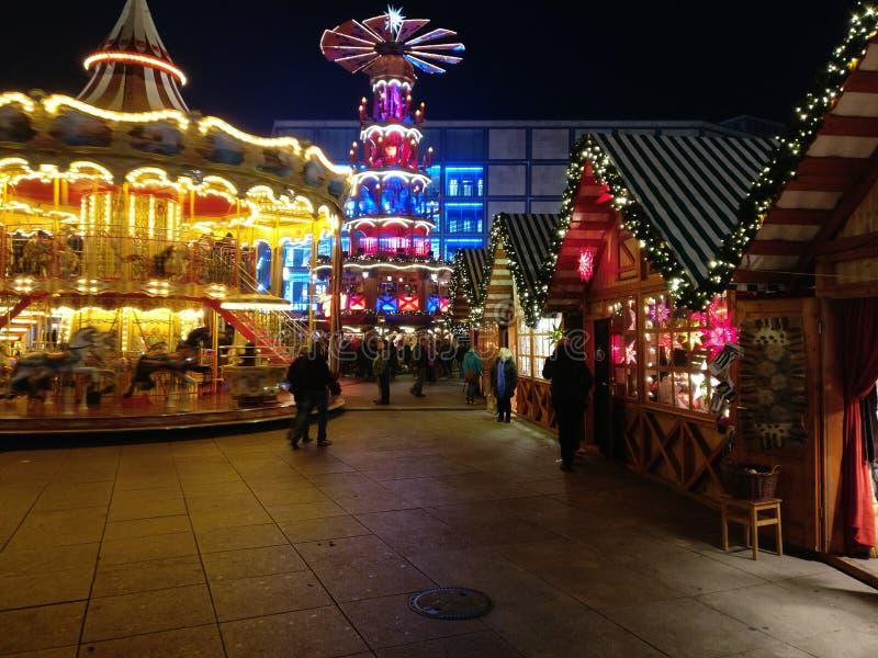 Berliński weihnachtsmarkt zdjęcia royalty free