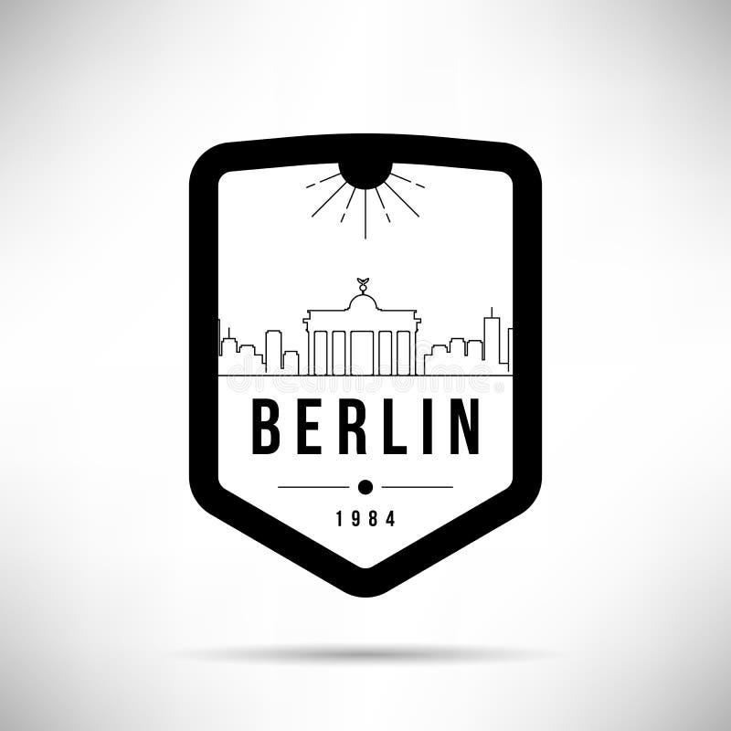 Berlińskiego miasta linia horyzontu wektoru Nowożytny szablon ilustracja wektor