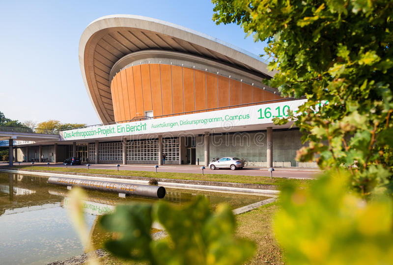 Berli - Duitsland Huis van de Culturen van de Wereld stock foto's