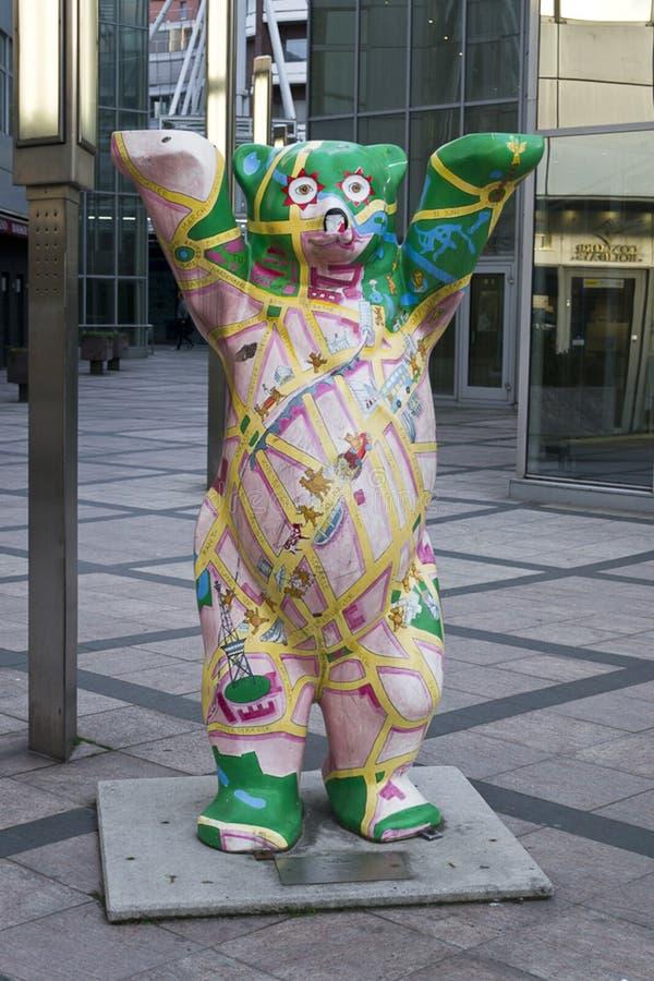 Berlińska miasto niedźwiedzia statua zdjęcia royalty free