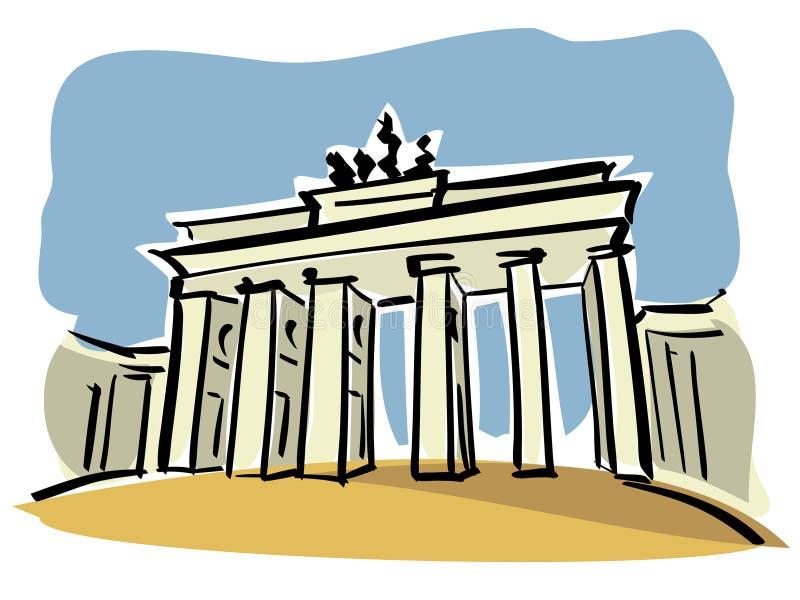 Berlijn (de Poort van Brandenburg) vector illustratie