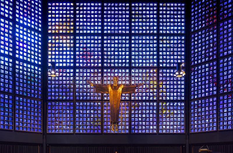 Berlijn, Duitsland - 20 Augustus 2018 - verandert van de kerk van kaiserwilhelm stock foto