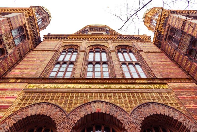 Berlijn, Duitsland bijzonder van de Nieuwe Synagoge van Neue Synagoge in het Mitte-district stock foto
