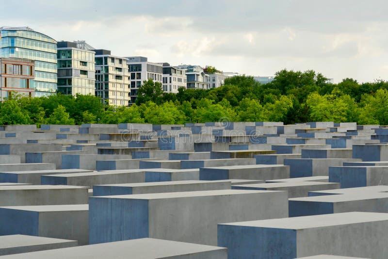 Berlijn / Duitsland Herdenking van de Moord-Europese joden stock fotografie