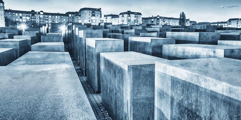 BERLIJN, DUITSLAND - OCT 17, 2013: Mening van Joodse Holocaust Memoria stock fotografie