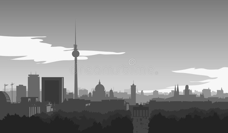 Berlijn, horizon royalty-vrije illustratie