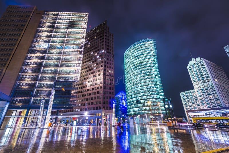 Berlijn in Potsdamer Platz stock fotografie