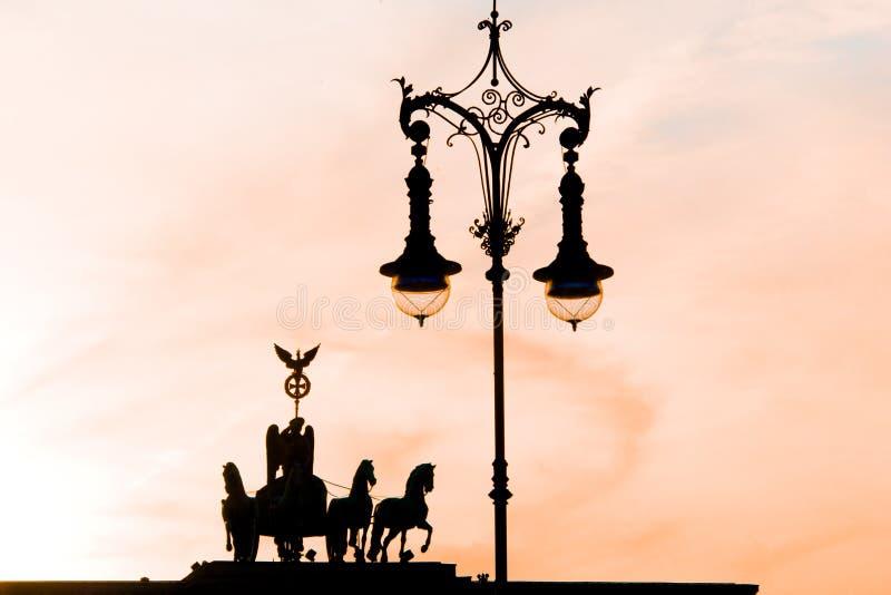 Berlijn, Quadriga op Brandenburger-Poort royalty-vrije stock foto