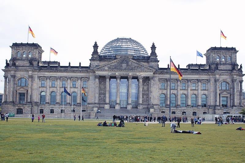 Berlijn Reichstag stock foto's