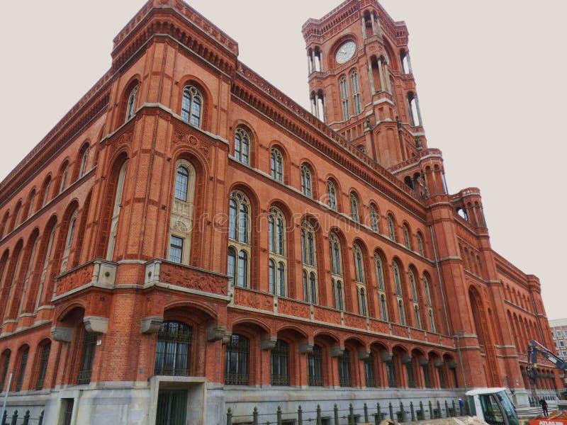 Berlijn - Rotes Rathaus stock fotografie