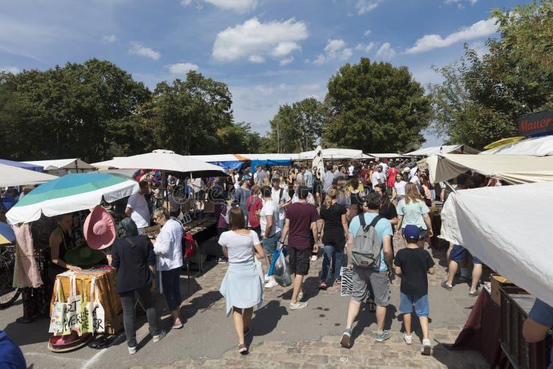 Berlim, Alemanha; 20 de agosto de 2018; Feira da ladra de Mauerpark fotografia de stock