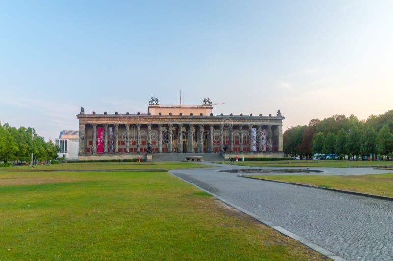 Berlim, Alemanha - 16 de agosto de 2018: Museu de Altes na ilha de museu imagem de stock royalty free