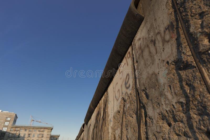 Berlim, Alemanha; 20 de agosto de 2018; sobras de Berlin Mauer o foto de stock royalty free