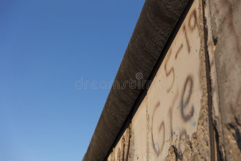 Berlim, Alemanha; 20 de agosto de 2018; sobras de Berlin Mauer o imagens de stock royalty free