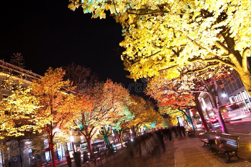 Berlim, festival de luzes fotos de stock