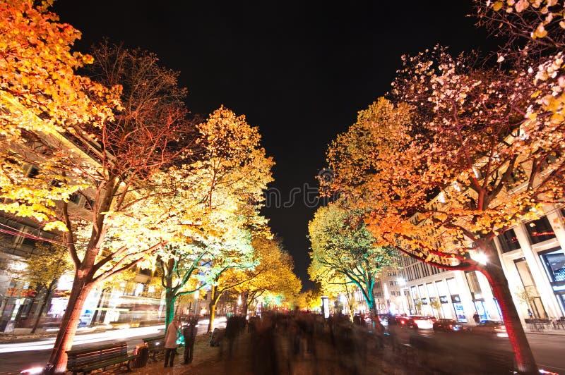 Berlim, festival de luzes fotografia de stock royalty free