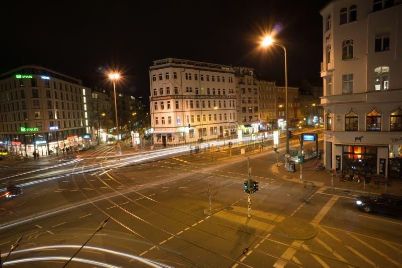 Berlim na noite foto de stock royalty free
