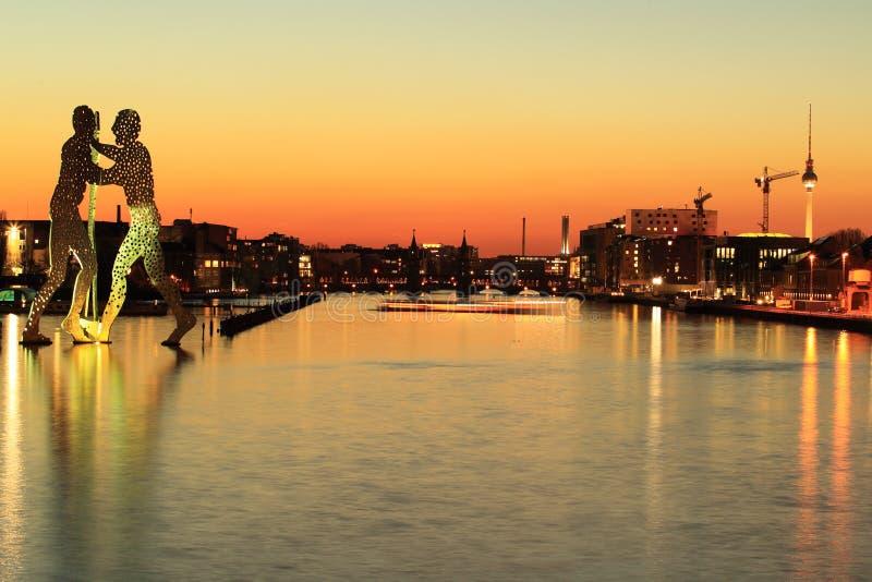 Berlim no por do sol foto de stock royalty free