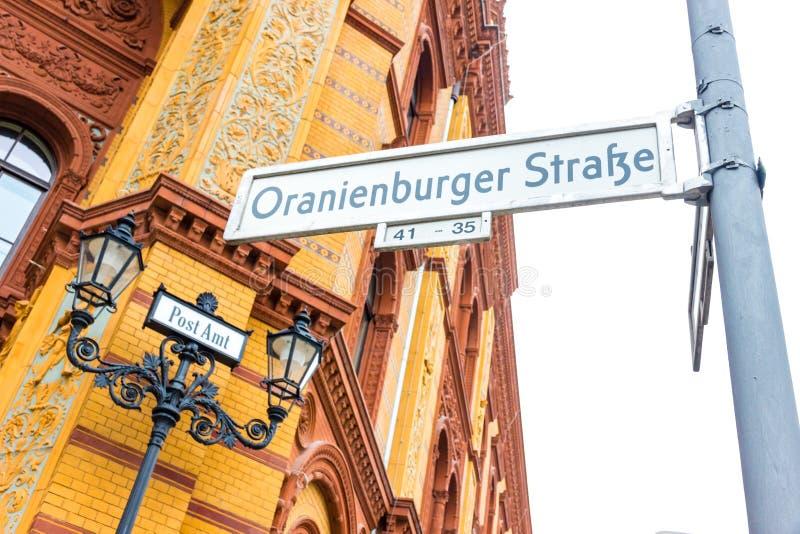berlin Германия частность исторического почтового отделения в улице oranienburger стоковая фотография