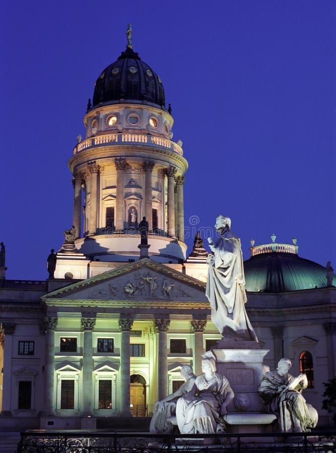 berlin освещает ночу стоковые фотографии rf