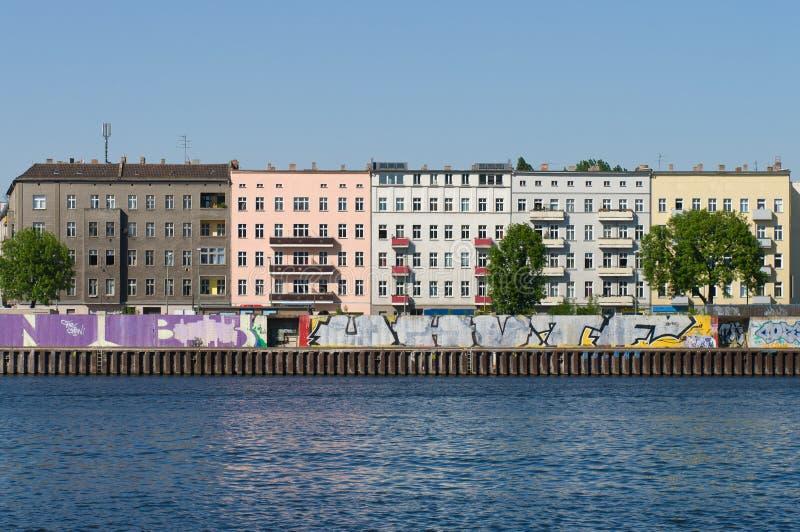 berlin остает стеной стоковая фотография rf